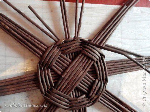 kör alap Поделка изделие Плетение Мастер-класс мельница-бар Бумага Трубочки бумажные фото 3