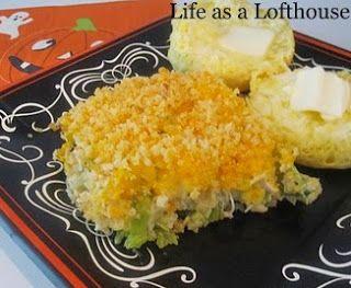 Cheesy Chicken, Broccoli and Rice Bake