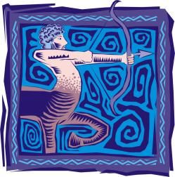 SAGITARIO Sagitario significa «saetero, que lucha con arcos y saetas». Según la astrología tradicional, los 3 decanatos del signo Sagitario se representan con centauros: el primero con el torso inclinado tensando su arco y dirigiendo la flecha hacia atrás; el segundo dirige su flecha al frente; el tercero...