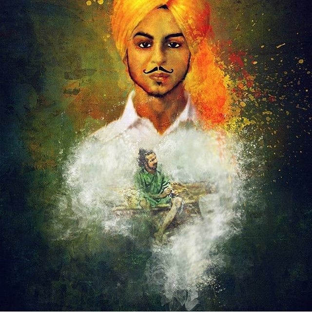 "the artist's canvas  ""Lovers lunatics and poets are made of the same stuff."" - Bhagat Singh  Beautiful art by @jay_kullar"