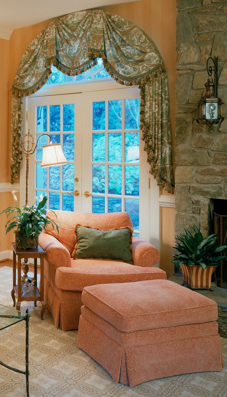 Window dressing ideas for arched windows   best treatments images on pinterest  border tiles shades and