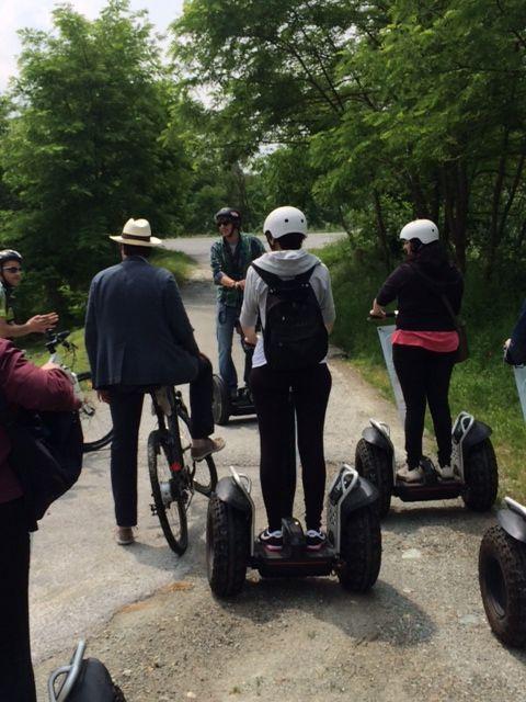 Sulla via di Staffarda in segway per #openbike blog tour.