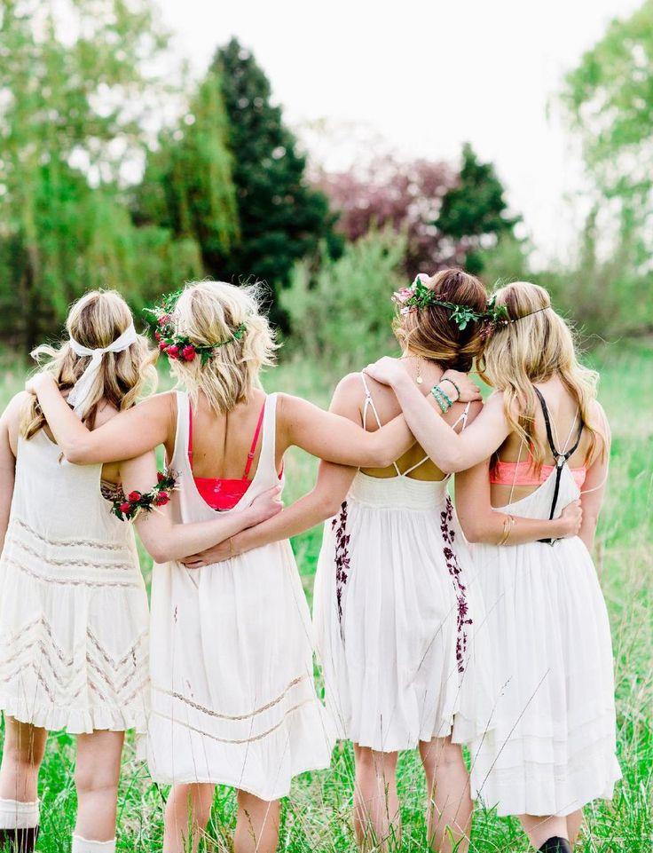 Groupe de femme dans la nature