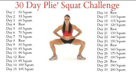 Plié Squat Challenge