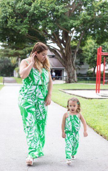 Mommy and Me Matching Outfits - Lilly Pulitzer rompers and jumpers