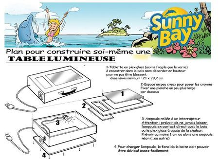 sun brico valise lumineuse atelier dessin pinterest. Black Bedroom Furniture Sets. Home Design Ideas