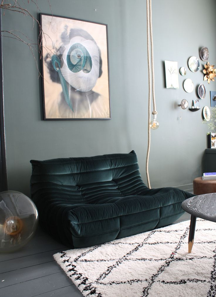 Kleur: Farrow & Ball, 'Studio Green' THE NICE STUFF COLLECTOR INTERIOR BLOG INTERIEUR THEO-BERT POT