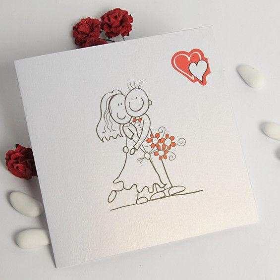 Liebe Umarmet Uns Blanko Lustig Hochzeitseinladungen Mit Comic Images   :  Günstige Einladungskarten Hochzeit Online  Optimalkarten