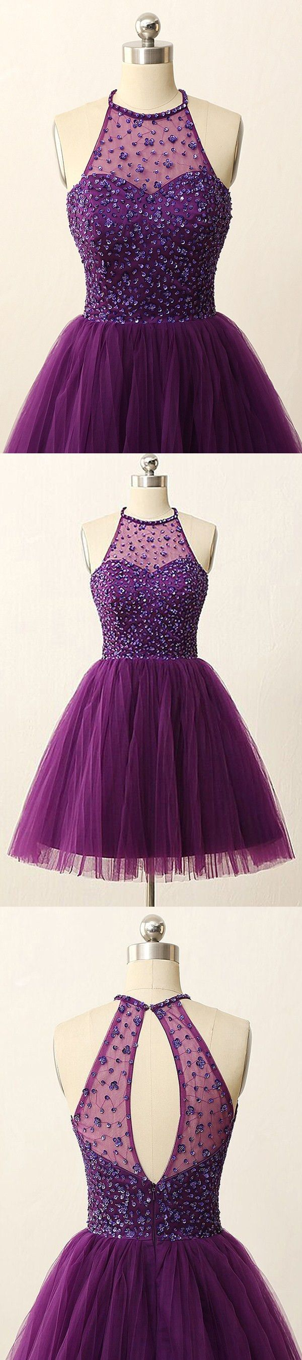 homecoming dresses,2016 homecoming dresses,short purple homecoming dresses,short prom dresses,halter homecoming dresses,cheap purple homecoming dresses for teens,sparkle homecoming dresses