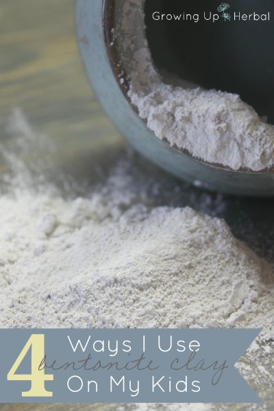 4 Ways I Use Bentonite Clay On My Kids | GrowingUpHerbal.com | I use bentonite clay a lot in my family. Here are 4 ways I use it with my kids!