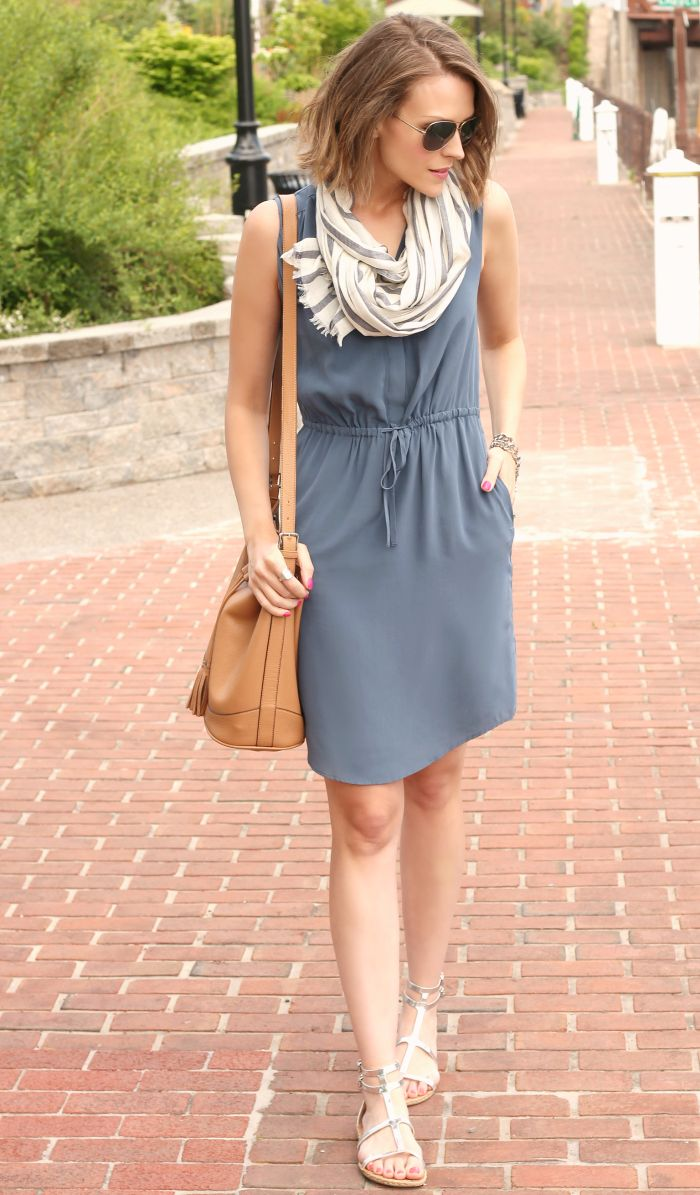 Easy silk shirt dress
