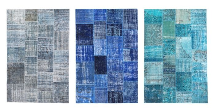 SILKEBORG vloerkleden | #IKEA #uniek #vintage #kleed #tapijt #vloerkleed #patchwork #blauw