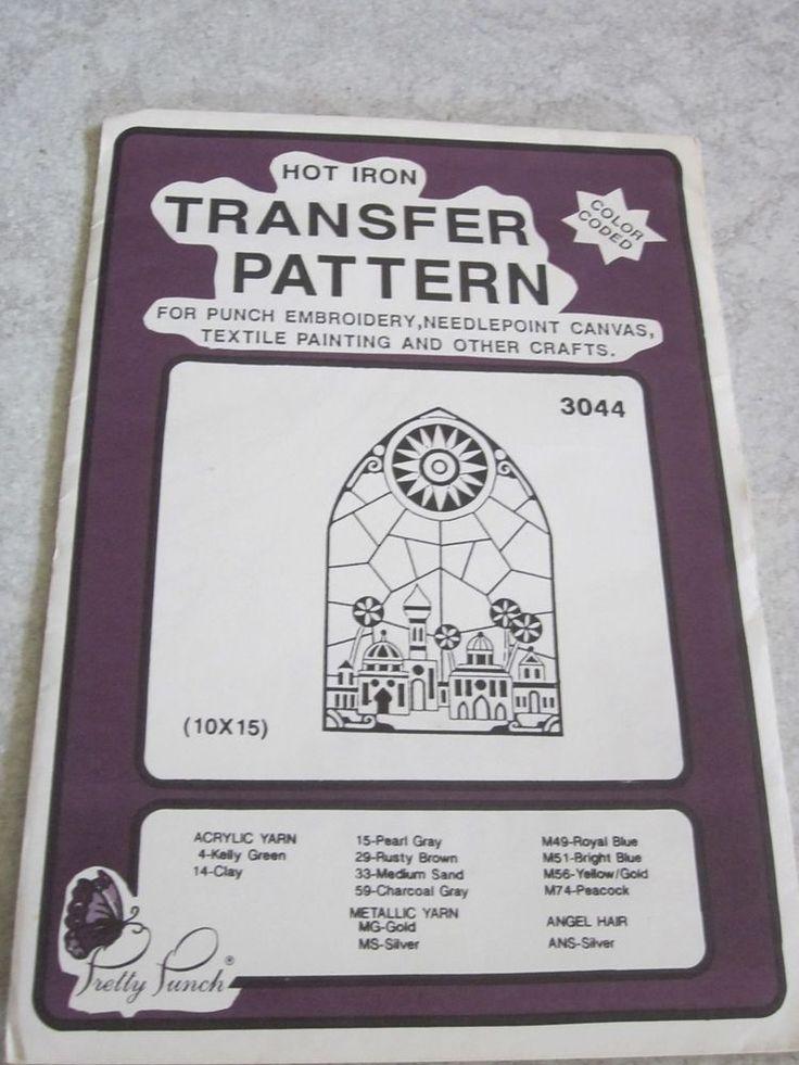 Iron on Transfer Pattern Pretty Punch Stain glass window #3044