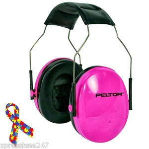 Noise-Reduction-Headphones-Kids-Child-Baby-Autism-Safety-Hearing-Protector-PINK