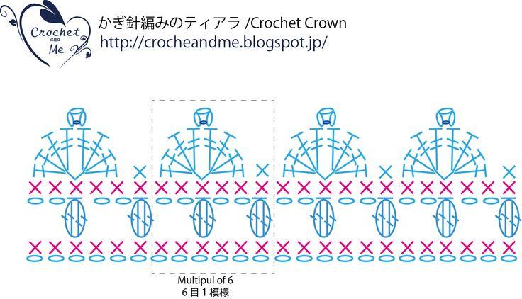 crochet crown diaglam