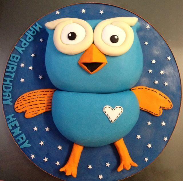 'hoot' the owl cake