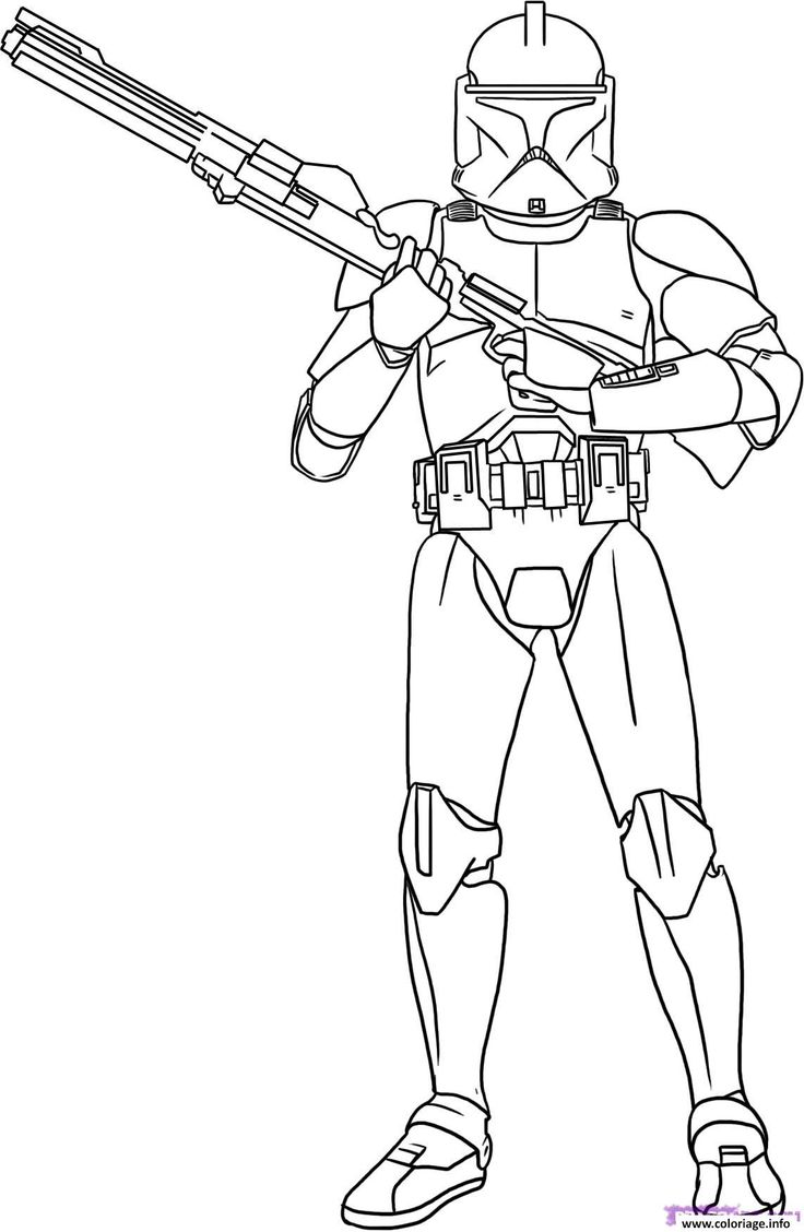 Coloriage star wars 2 Dessin à Imprimer Coloriage star