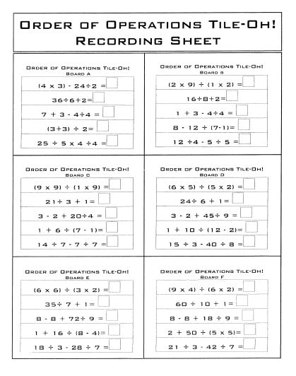 25 best ideas about math worksheet order of operation on pinterest level 3 multiplication. Black Bedroom Furniture Sets. Home Design Ideas