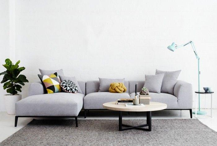designer sofa niedriges weißes modell Möbel - Designer Möbel