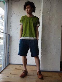 色の組み合わせがおしゃれ!Tシャツ 重ね着のアイデア