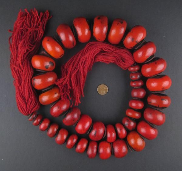 Take a look at this magnificent strand of beads! Prized for their unequaled beauty and striking color, Moroccan Amber Resin Beads have been prized for centuries among the Berber tribes of the mountain