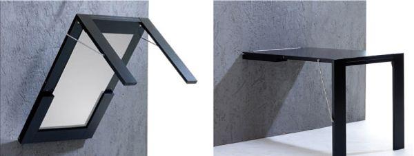Откидной стол - картина с отдельными ножками, складывающимися в цельную раму