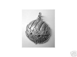 Beach VolleyBall Rules charm Pendant Jewelry silver Sterling Silver 925 Jewelry