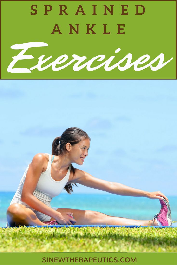 Sprained Ankle Exercises to strengthen flexibility of the muscles and joints. Learn more at SinewTherapeutics.com