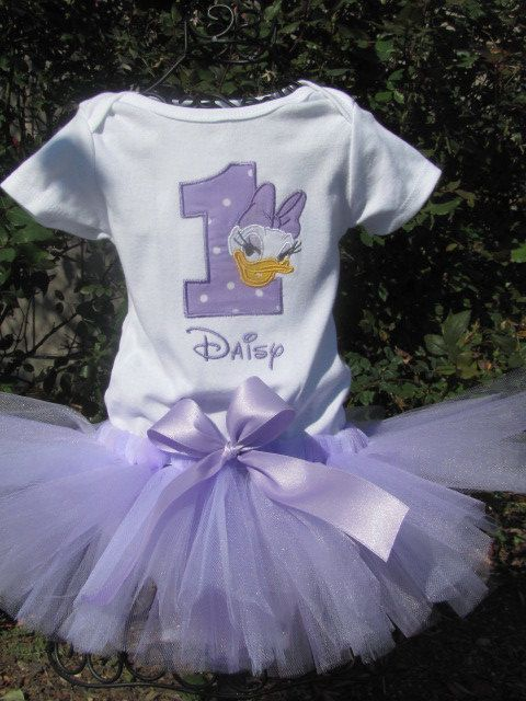 Daisy Duck Tutu Set in Light Purple and White.   by bloomnbows, $47.00