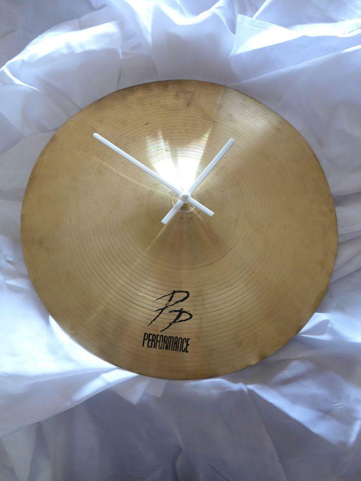 Cymbal Clock - Upcycled Hi-Hat - Cymbal Brass Music Memorabilia Musician Drummer
