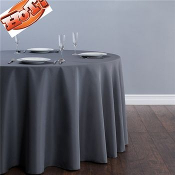 10pcs Grey Round Christmas Tablecloths In 70u0027u0027