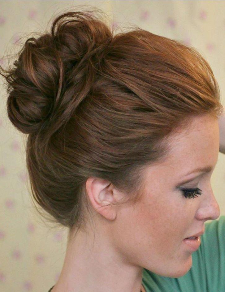Lise Mezuniyet Balosuna Harika Topuz Saç Modeli