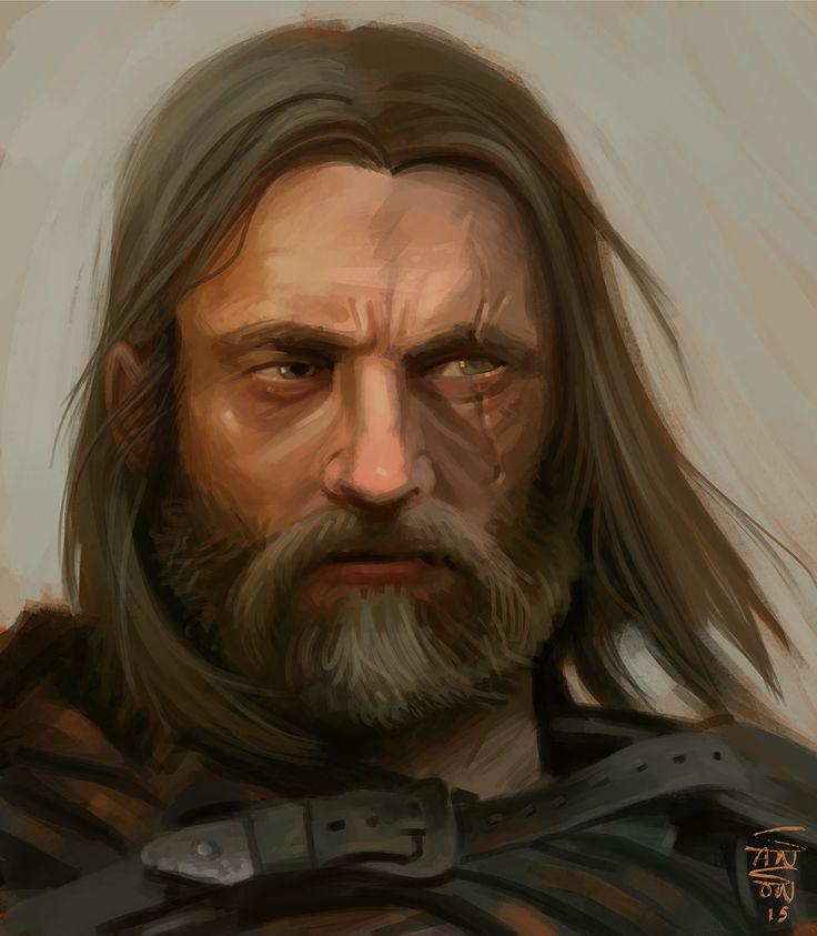 ArtStation - Old warrior, Ludovic Sanson