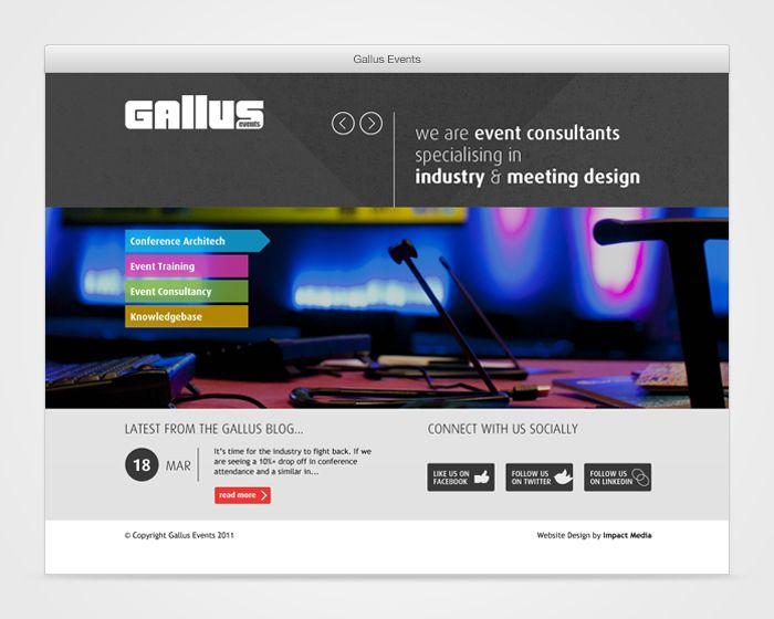 Gallus Events - WordPress Events Website