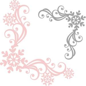 snowflake corner flourishes by Miss Kate Cuttables Design ID #110449 Published: 12/14/2015 Regular cut
