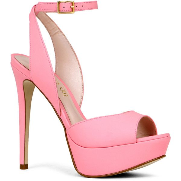 ALDO Perelli (3,595 INR) ❤ liked on Polyvore featuring shoes, sandals, heels, sapatos, high heels, light pink, light pink sandals, platform sandals, ankle strap high heel sandals and ankle tie sandals