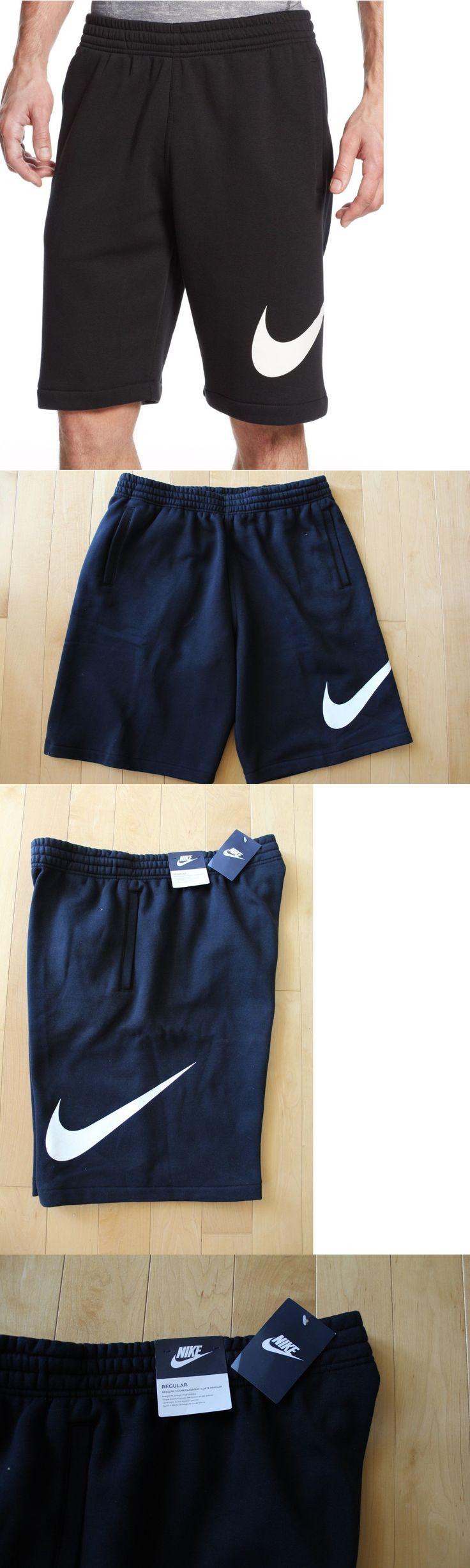 Athletic Apparel 137084: Nwt Nike Men S Logo Swoosh Fleece Shorts Black White M L Xl -> BUY IT NOW ONLY: $37.05 on eBay!