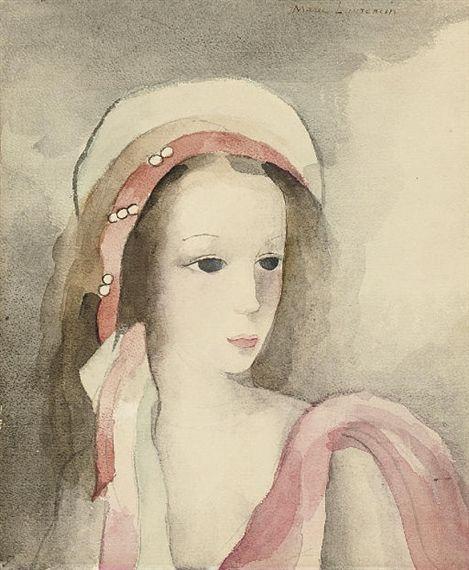 Marie Laurencin, Jeune fille au turban perlé rose