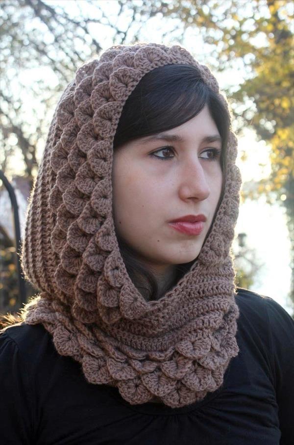 Crochet Crocodile Stitch Hood | 101 Crochet