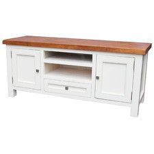 Town and Country 2 Doors TV Unit in Latte / Espresso