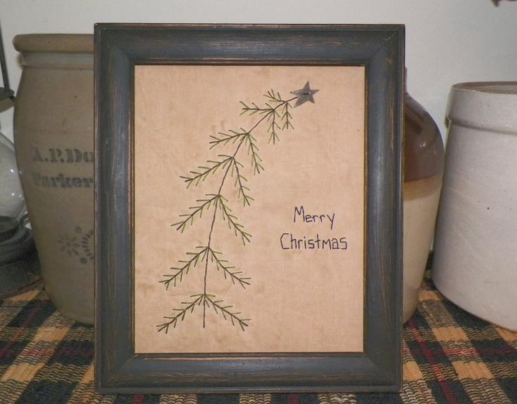 Primitive Christmas Wall Decor : Best images about primitive christmas samplers cross