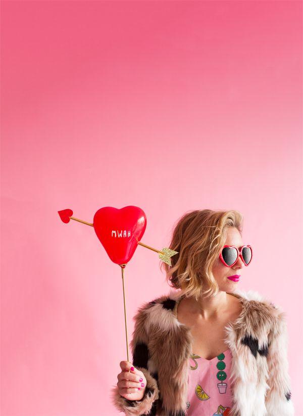 'Cupid's Heart' Balloon Sticks   Oh Happy Day!
