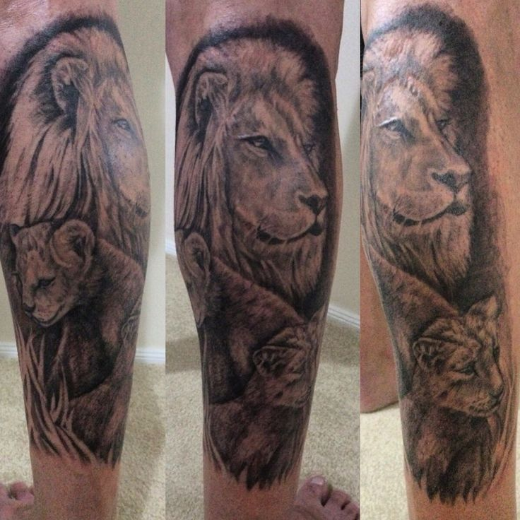 20 best tattoo designs tribal lion and cub images on for Lion and cub tattoo