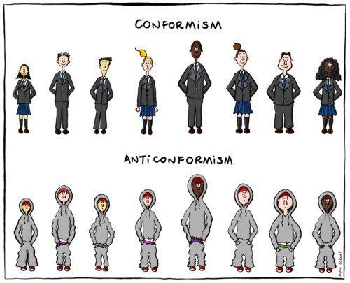 #Conformism vs #Anticonformism