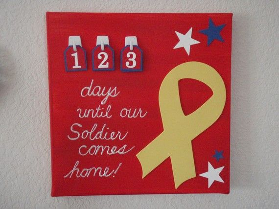 homecoming countdown calender. Craft idea to help pass the time