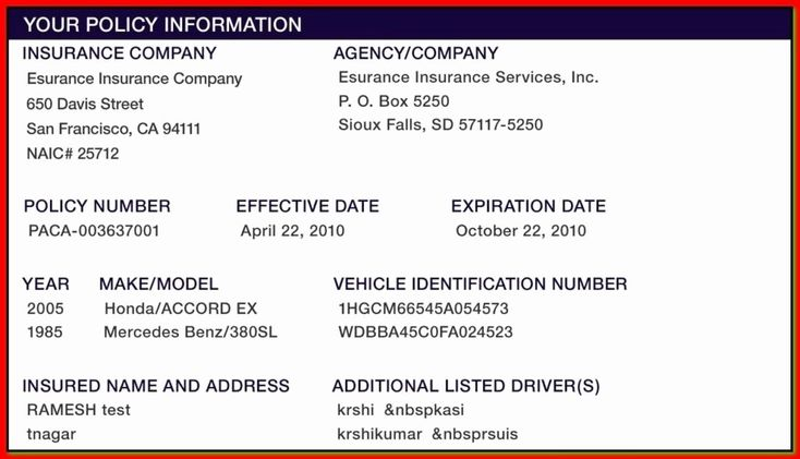 Car insurance card template download fresh proof auto