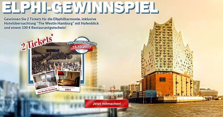 """Machen Sie mit und gewinnen zwei Tickets für die Elbphilharmonie. Die Übernachtung im Premium Panorama Zimmer im ,,The Westin"""" in Hamburg und ein 100 Euro Restaurantgutschein sind inklusive. Viel Glück!"""