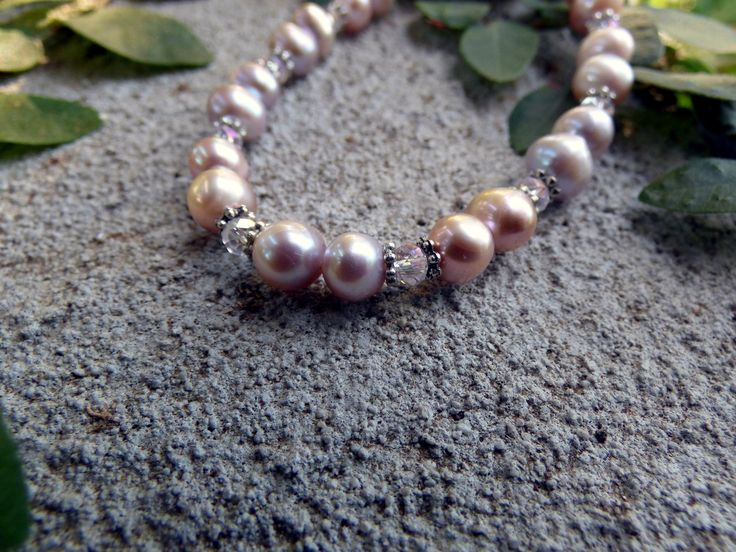Bracelet Pink Pearl Bracelet with Tibetan Silver Crystal beads - Along the Bridal Path & Julz Jewels & clothing