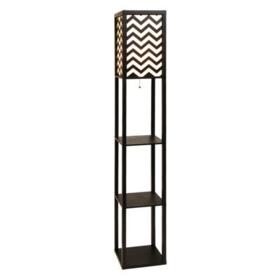 chevron shelf floor lamp products floor lamps and shelves With chevron shelf floor lamp
