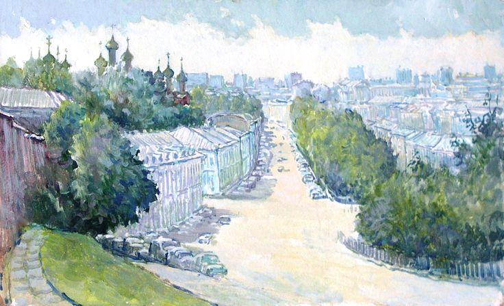 Качанов В. Москва. Панорама со Сретенского холма.1995